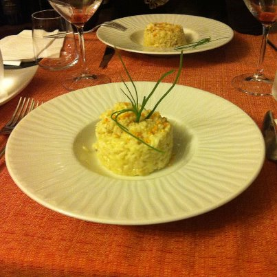 Risotto mantecato all'orata e arancio (1)