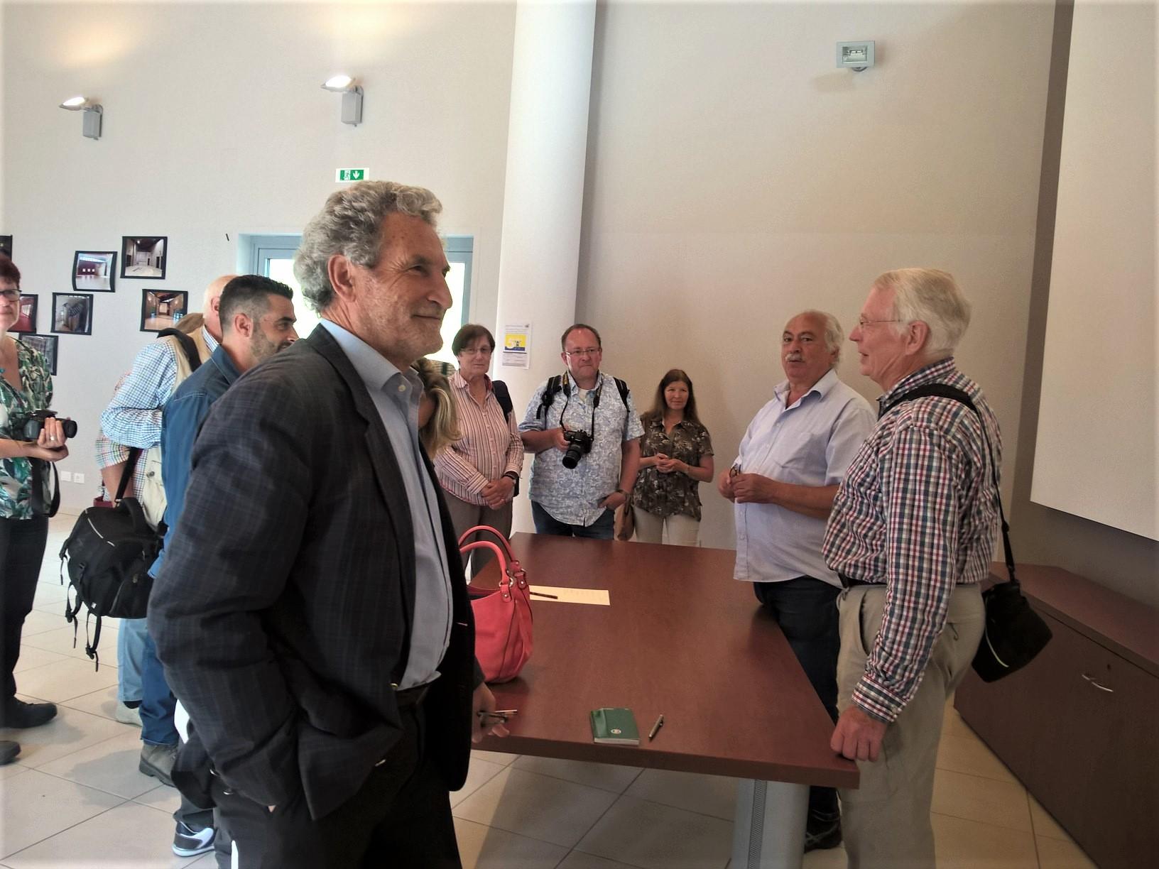 A destra, Bernd Galland e Enzo Iacovozzi